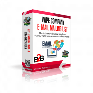 Global Vape And CBD Industry B2B Email List of Vape and CBD Retailers, Wholesalers and Manufacturers