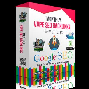 Monthly Vape SEO Backlinks Package for Vape Shops
