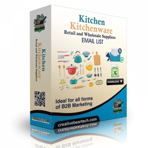 Kitchen and Kitchenware Retail and Wholesale Suppliers B2B Email List
