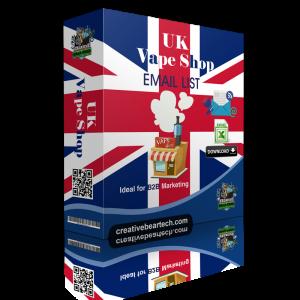 UK Vape Shop Database with Vape Shop Contact Details